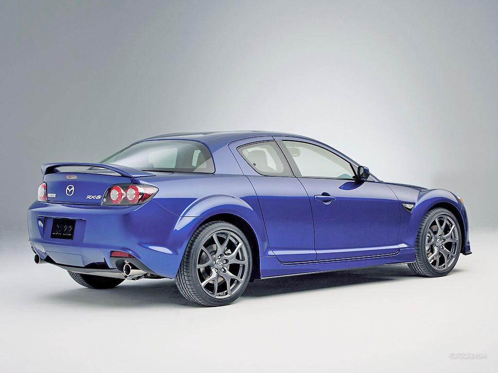 A right little racer, the Mazda RX-8 is a load of fun to drive.
