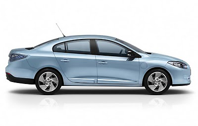 Renault's new Fluence has four doors and a coupe-like profile. It's sure to drive very nicely.
