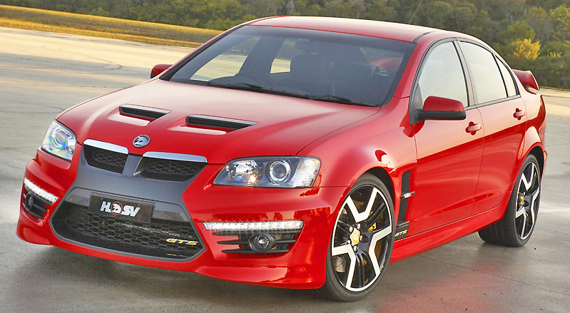 Daytime running lights, a shockwave inspired grille and 325 kw, and the HSV GTS means business.