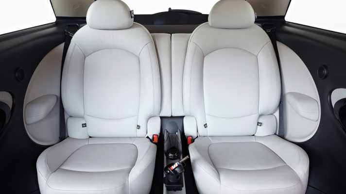 Rear seats in the Mini Paceman offer some of the coolest travel for rear seat passengers.