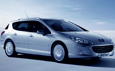 The Peugeot 407 Touring is a very comfortable family vehicle for long journeys - or short ones.