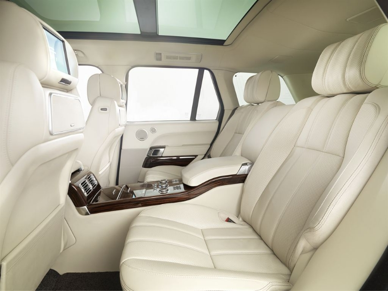 Completely luxurious, the stunning new Range Rover is breathtaking. There's heaps of room, too. While a two-seater reclining back seat is an option, I'm guessing most will prefer the conventional three-seater.