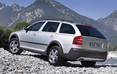 Climb every mountain, ford every stream in the Skoda Octavia Scout TDI 4x4 Wagon.