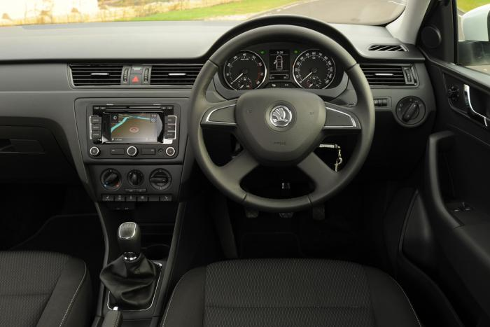 The Skoda Rapid has interior design that cleverly blends classy looks with practicality and comfort.