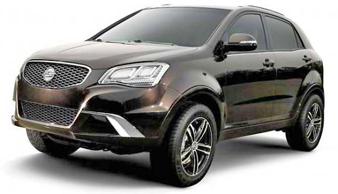 The Ssangyong Korando looks as punchy and aggressive as a bull terrier.