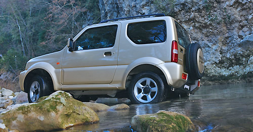 Neat, compact styling complements the fuel efficient engine found in the exceptionally capable Suzuki Jimny.