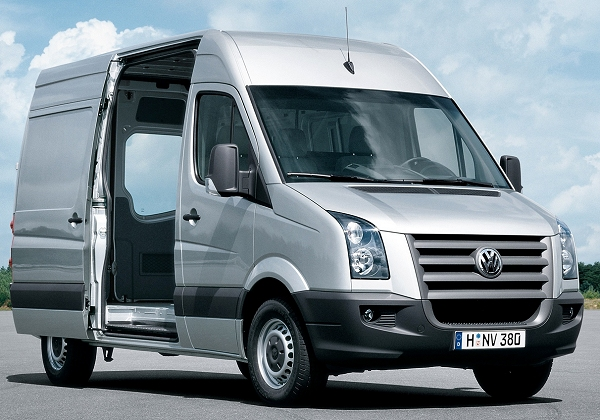 The Volkswagen Crafter has plenty of space for all passengers and good vision for the driver.