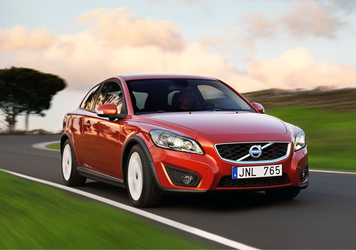 The Volvo C30 2.4 coupé is roomier inside than you might think.