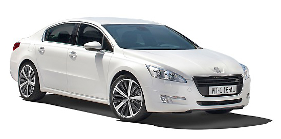 The Peugeot 508: shown here as a sedan, it also comes as a stationwagon.