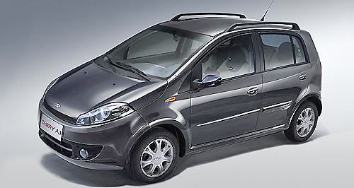Light on its feet, the Chery J1 is one of the smallest cars from the Chinese car maker: Chery.