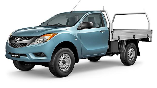 A stylish design gives the new Mazda BT-50 4x2 the class edge. Power is great, too.