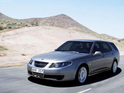 The Saab 95 Sport Estate is a very photogenic vehicle and has the performance to match the looks.