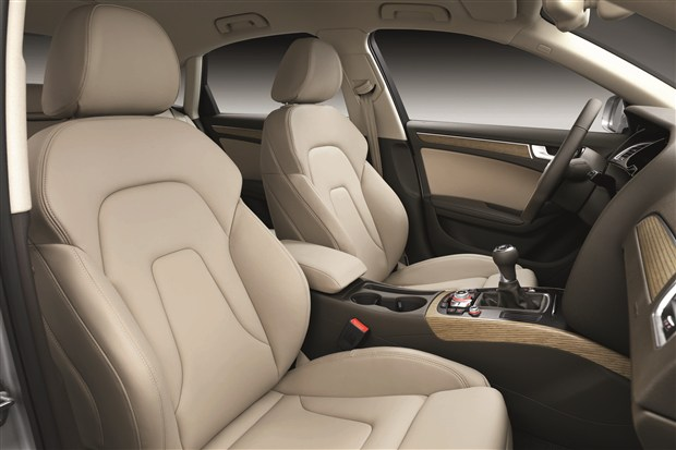Audi's sexy leather seating and trim is available on all Audi A4 Sedan models.