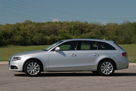 The Audi A4 Avant wagon looks very sleek indeed.