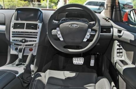 Electronic leather sports seats and an Interior Command Centre (ICC) with an advanced 8-inch colour touch screen, Bluetooth, USB and iPod connectivity make the FPV GT a very modern highway marauder.