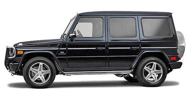 The Mercedes Benz G Class looks luxurious but can handle off-roading conditions with style.