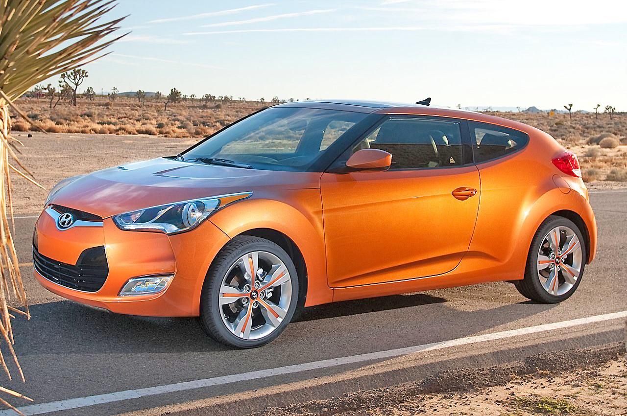 You've got to like the Hyundai Veloster looks. It's a nice drive, too.