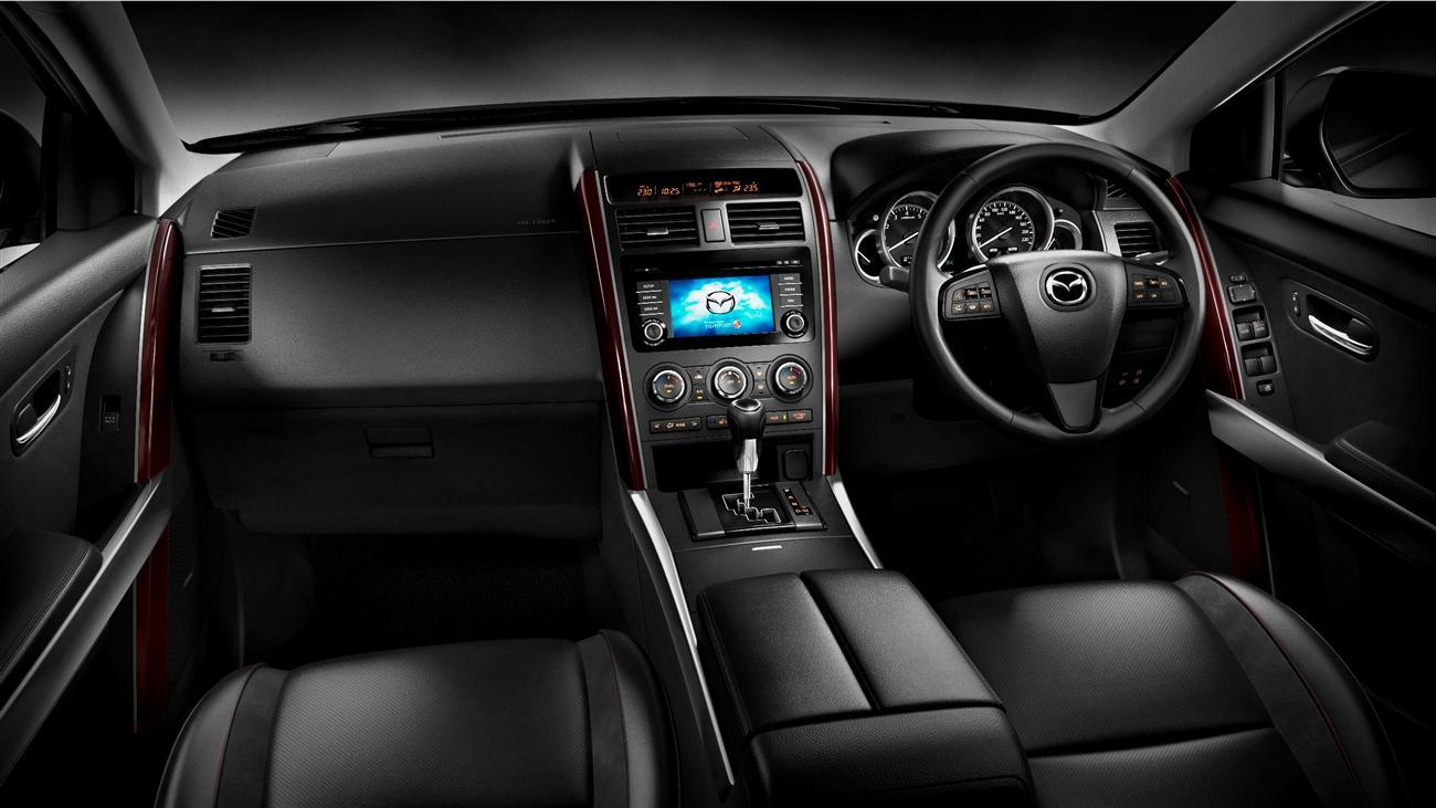 A premium feel to the new Mazda CX-9 interior starts with the classy dash and excellent driving position.