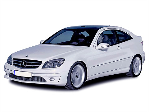 The Mercedes Benz CLC-class is a very striking-looking small car even in everyday white.