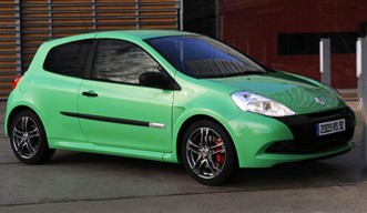 Echoing its hot performance, the Renault Clio RS 197 looks like a jalapeno on wheels.