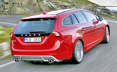 Red hot: the new Volvo V60.