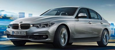 BMW 330e iPerformance sedan around town