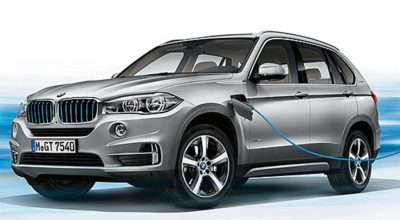 BMW X5 XDrive40e iPerformance being charged.